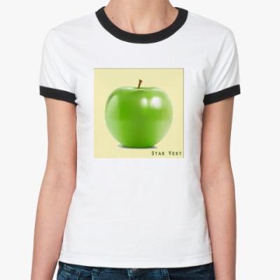 Женская футболка Ringer-T  Apple