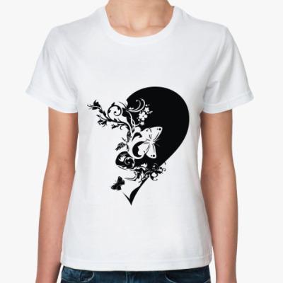 Классическая футболка половинка