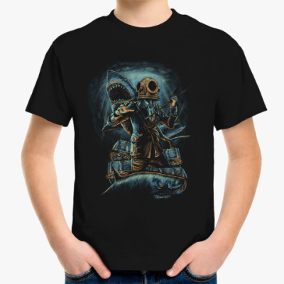 Детская футболка Водолаз