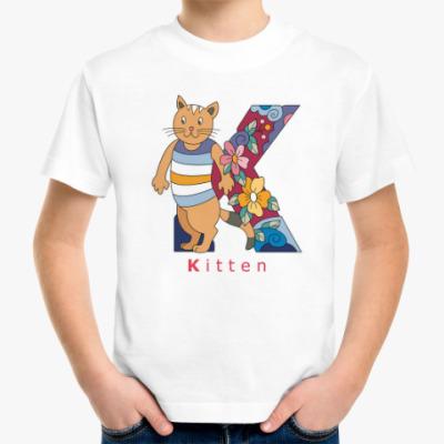 Детская футболка Школьная Кошка