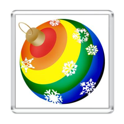 Магнит  новогодний шар