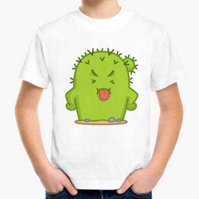 Детская футболка Игривый Кактус Коля