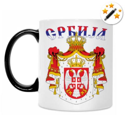 Кружка-хамелеон Большой герб Сербии