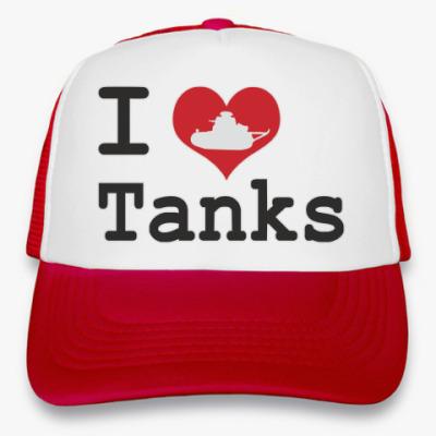 Кепка-тракер Я люблю танки
