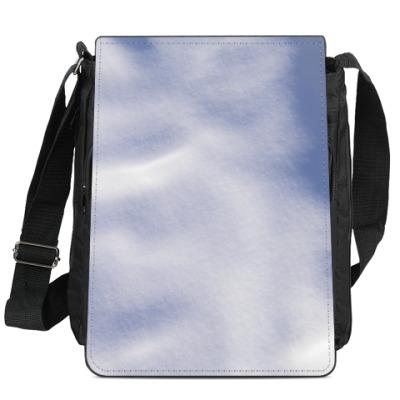 Сумка-планшет Снег на Новый год