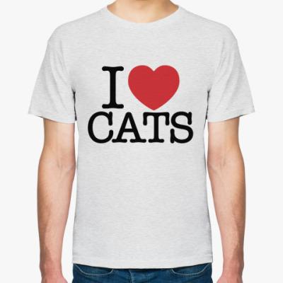 Футболка i love cats!