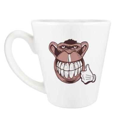 Чашка Латте Веселая обезьяна