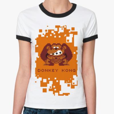 Женская футболка Ringer-T Donkey Kong