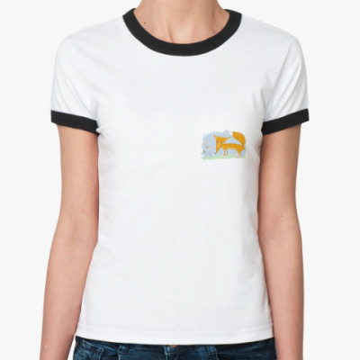 Женская футболка Ringer-T Лиса