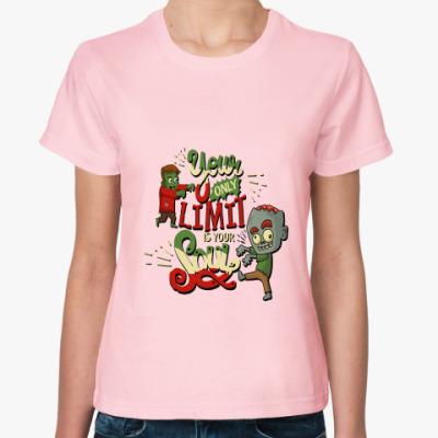 Женская футболка Философия зомби