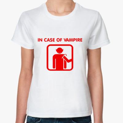 Классическая футболка In Case Of Vampire
