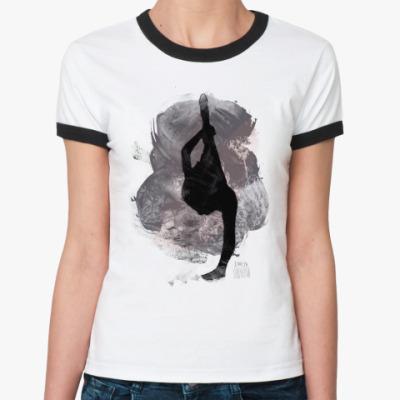Женская футболка Ringer-T Lotus Flower