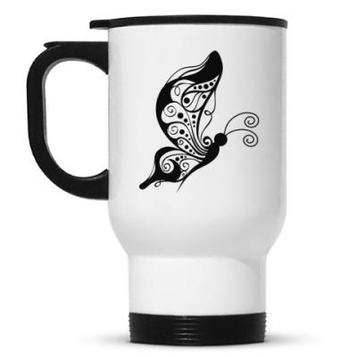 Кружка-термос Бабочки
