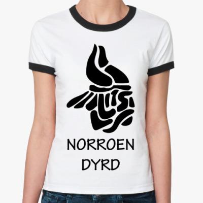 Женская футболка Ringer-T Norroen Dyrd