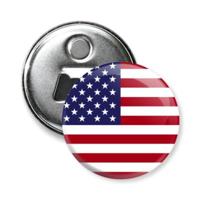 Магнит-открывашка США, USA, Америка