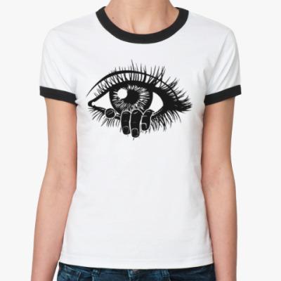 Женская футболка Ringer-T тону в твоих глазах