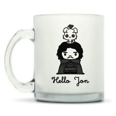 Кружка матовая Hello Jon