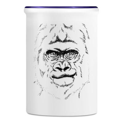 Подставка для ручек и карандашей горилла