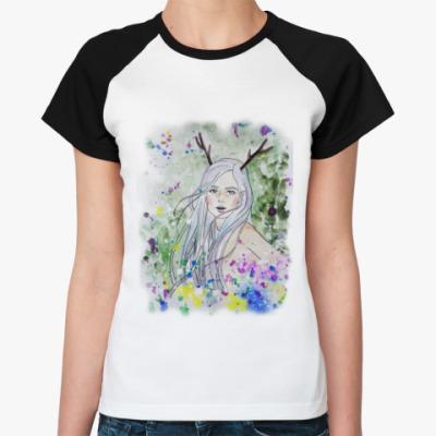Женская футболка реглан Лесная фея, эльф