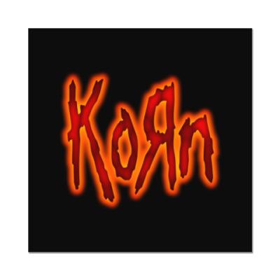 Наклейка (стикер) Korn