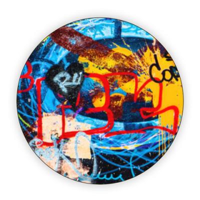 Костер (подставка под кружку) Graffiti boom
