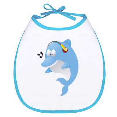 Слюнявчик Дельфин
