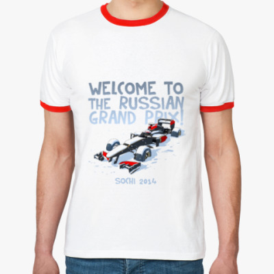 Футболка Ringer-T Welcome To The Russian GP