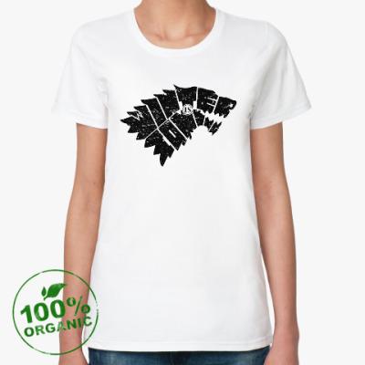 Женская футболка из органик-хлопка Зима близко