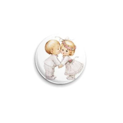 Значок 25мм Поцелуй