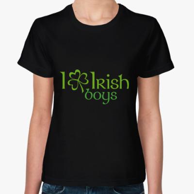 Женская футболка Irish boys