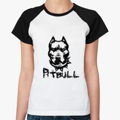 Женская футболка реглан 'Питбуль'
