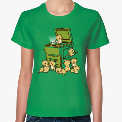 Женская футболка Копировальный котоаппарат
