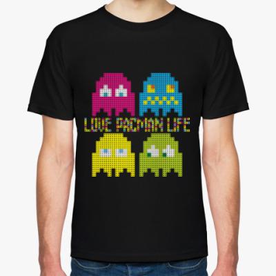 Футболка Pacman Game Life Love 8bit