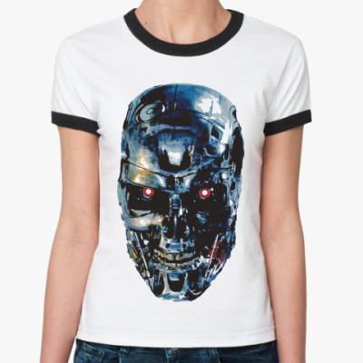 Женская футболка Ringer-T Терминатор Т-800
