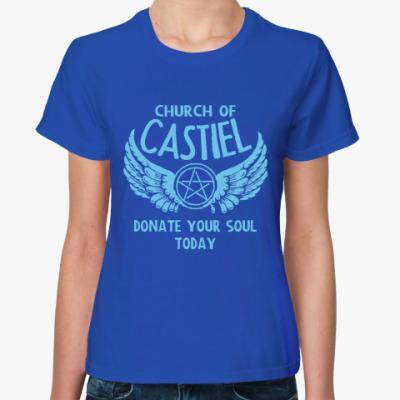 Женская футболка Кастиэль - Supernatural