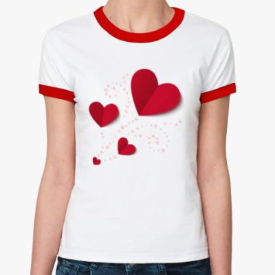 Женская футболка Ringer-T All my loving