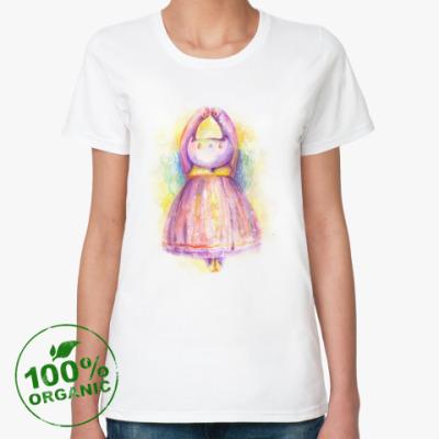 Женская футболка из органик-хлопка Кошка