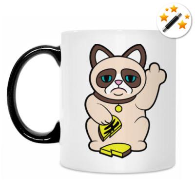 Кружка-хамелеон Tard Grumpy Cat Maneki Neko