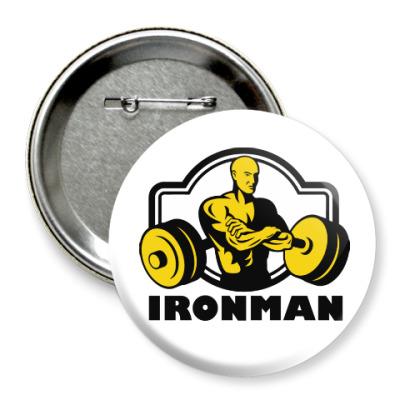 Значок 75мм Ironman