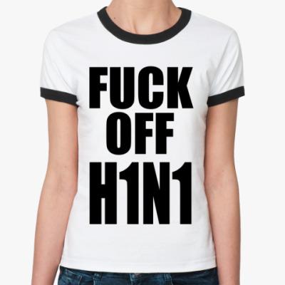 Женская футболка Ringer-T h1n1
