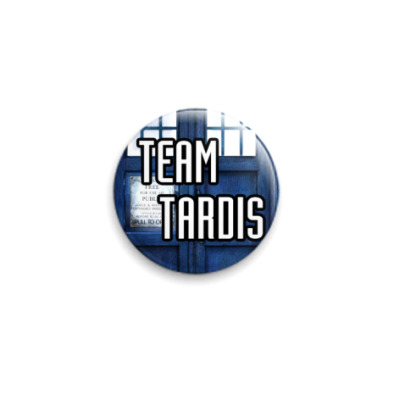Значок 25мм Team Tardis