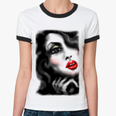 Женская футболка Ringer-T 'Lady'