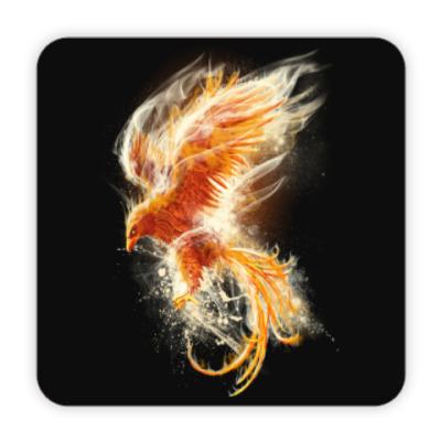 Костер (подставка под кружку) Птица Феникс Fenix bird