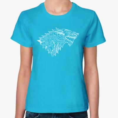 Женская футболка Герб Старков и крата Вестероса
