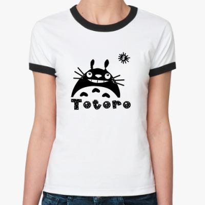 Женская футболка Ringer-T  Тоторо 2