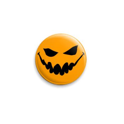 Значок 25мм  Halloween Pumpkin