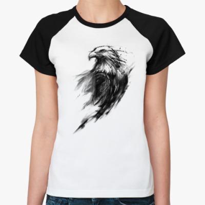 Женская футболка реглан Орёл