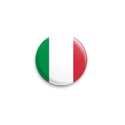 Значок 25мм  Италия