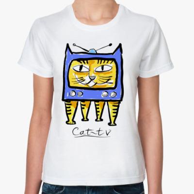 Классическая футболка кот-тв