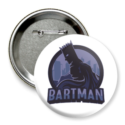 Значок 75мм Bartman